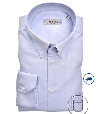Ledub overhemd lichtblauw button down non-iron