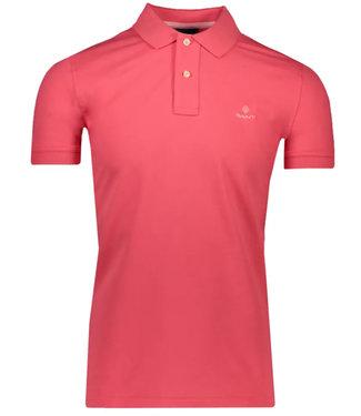 Gant paradise pink stretch heren polo korte mouw