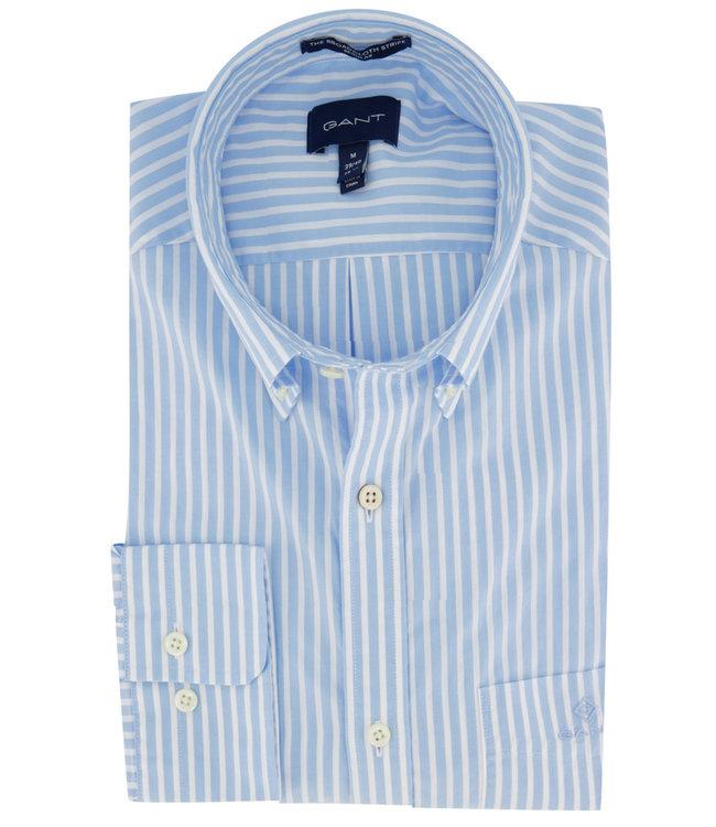 Gant heren overhemd lichtblauw-wit streepje