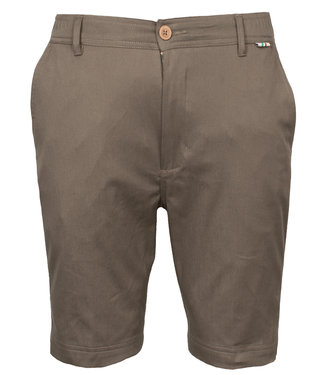 Giordano Tailored heren bruin korte broek model mr. Stretch Tandpasta Marvis