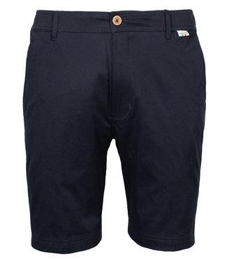 Giordano Tailored heren donkerblauw korte broek model mr. Stretch Tandpasta Marvis