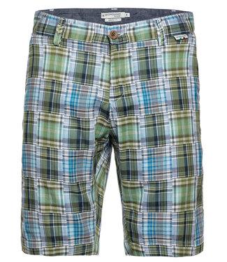 Giordano Tailored heren geruite korte broek donkerblauw groen