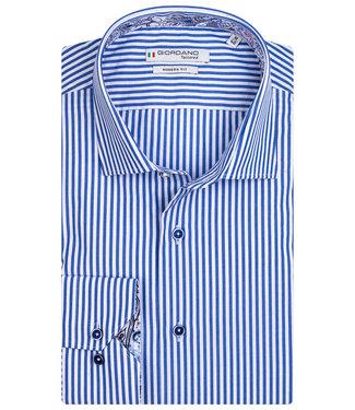 Giordano Tailored heren overhemd blauw wit streepje