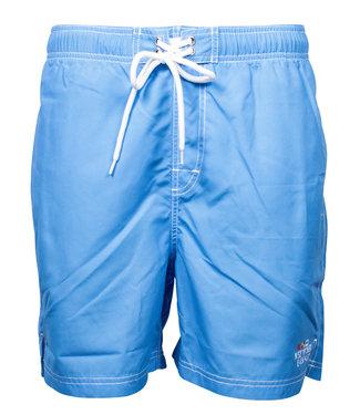 Baileys heren zwembroek blauw wit print