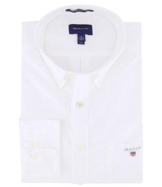 Gant heren overhemd wit poplin uni