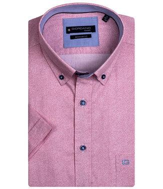 Giordano Regular Fit rood roze structuur print
