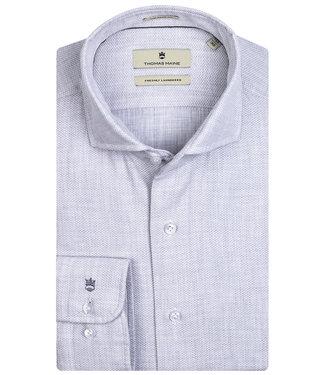 Baileys overhemd lichtgrijs wavel structuur