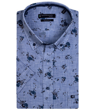 Giordano Regular Fit overhemd korte mouw linnen bloemen print