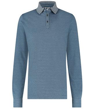 R2 Amsterdam jeans blauw polo lange mouw