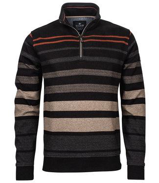Baileys heren sweater zwart bruin beige grijs brique strepen