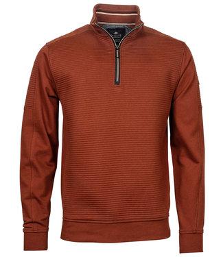 Baileys heren sweater brique gebrand oranje met ritsje