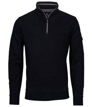 Baileys heren sweater donkerblauw met ritsje