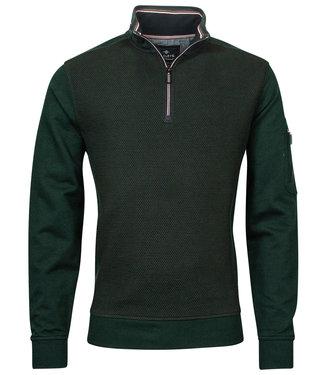 Baileys heren sweater donkergroen met ritsje