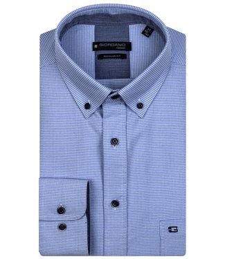 Giordano Regular Fit lichtblauw-wit pied-de-poule werkje