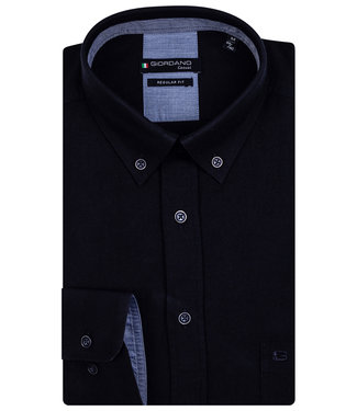 Giordano Regular Fit donkerblauw oxford button down