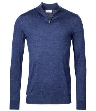 Thomas Maine heren donker jeans blauw zipper trui ritsje