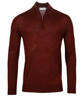 Thomas Maine heren bordeaux rood zipper trui ritsje