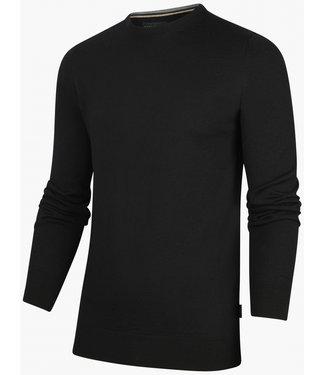 Cavallaro heren zwart ronde hals trui