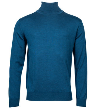 Baileys coltrui high neck pullover midden blauw
