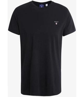 Gant Gant heren t-shirt zwart ronde hals