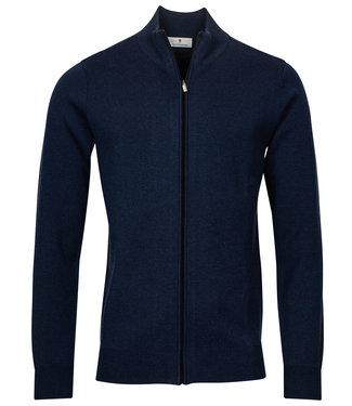 Thomas Maine heren merino wol kobaltblauw vest met rits