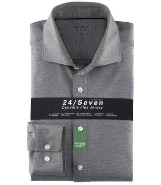 Olymp overhemd grijs dynamic flex jersey