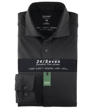 Olymp overhemd zwart dynamic flex jersey