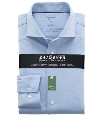 Olymp overhemd lichtblauw dynamic flex jersey mouwlengte 7