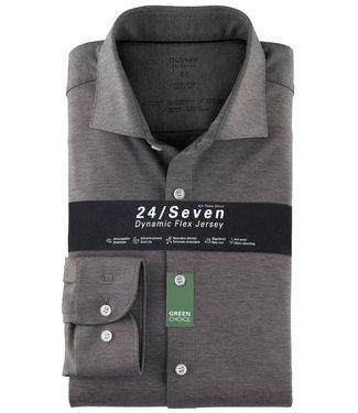 Olymp overhemd grijs dynamic flex jersey body fit