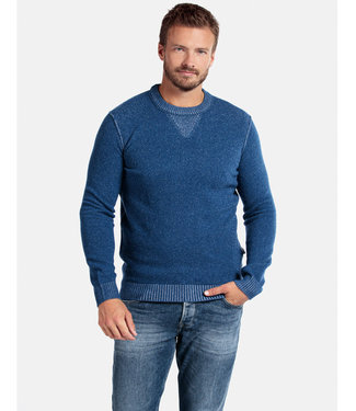 Giordano Tailored ronde hals trui kobaltblauw