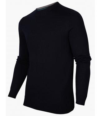 Cavallaro heren donkerblauw ronde hals trui