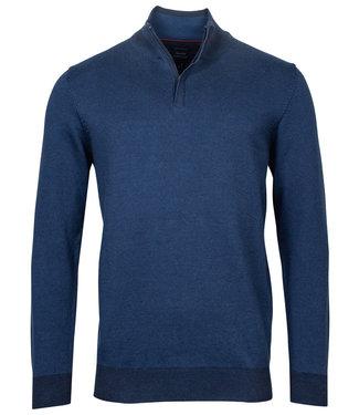 Baileys heren zipper met ritsje kobaltblauw jeans blue