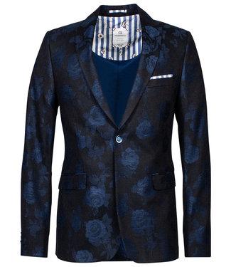 Giordano Blue zwart met blauwe rozen print