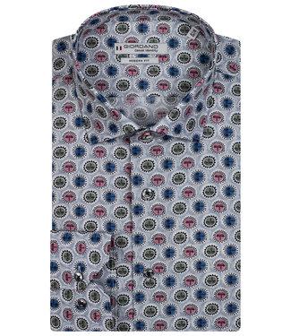 Giordano Tailored heren overhemd grijs tutti colori speciale print