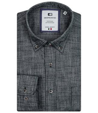 Giordano Tailored heren overhemd donkergroen