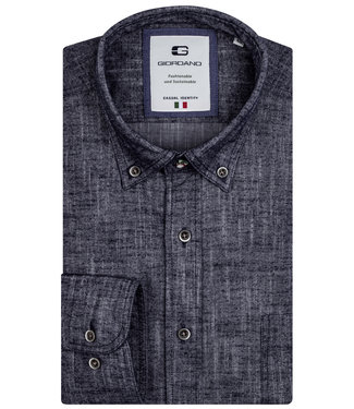 Giordano Tailored heren overhemd donkerblauw