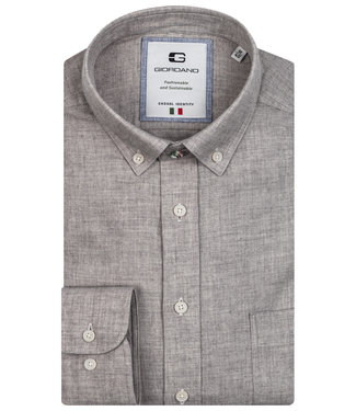 Giordano Tailored heren overhemd grijs katoen wol