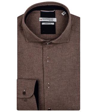 Giordano Tailored heren overhemd donkerbruin