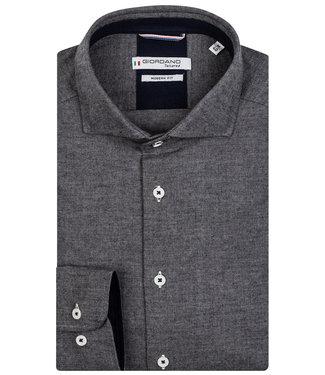 Giordano Tailored heren overhemd antraciet grijs