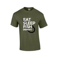 House of Carp Essen, schlafen, fischen, wiederholen - T-Shirt