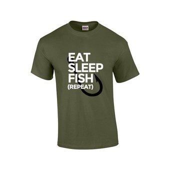 House of Carp Haus des Karpfen essen, schlafen, fischen, T-Shirt wiederholen