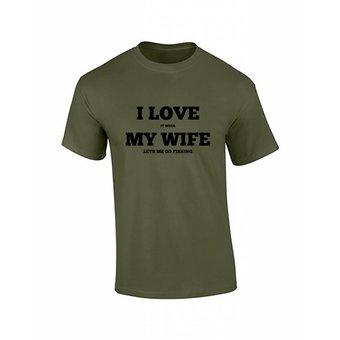 House of Carp Haus der Karpfen Liebe meine Frau T-Shirt