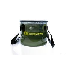 RidgeMonkey Transparante Collapsible Bucket 10 Liter