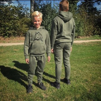 House of Carp House of Carp Carp Children's clothing | Kids Angry Carp Green jogging suit