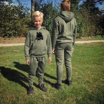 House of Carp Haus des Karpfen Karpfen Kinderbekleidung | Kids Splash Green Jogginganzug
