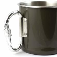 Stainless Steel Carabiner Mok 250 ml