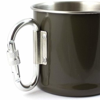 Stainless Steel Carabiner Mug 250 ml