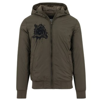 House of Carp Hooded Windbreaker with a carp print on the chest