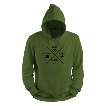 House of Carp Carp fishing in style with cool clothing | Seek Feed Catch Release Hoodie