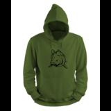Angry Carp Hoodie Green - Black